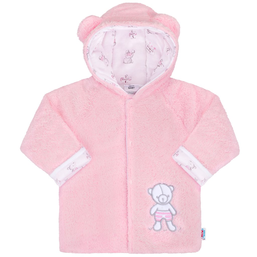 Zimní kabátek New Baby Nice Bear růžový vel. 62 (3-6m)