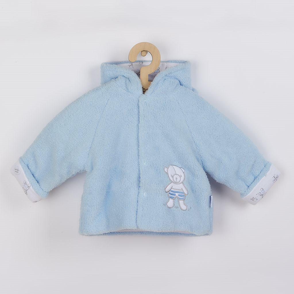 Zimní kabátek New Baby Nice Bear modrý vel. 62 (3-6m)