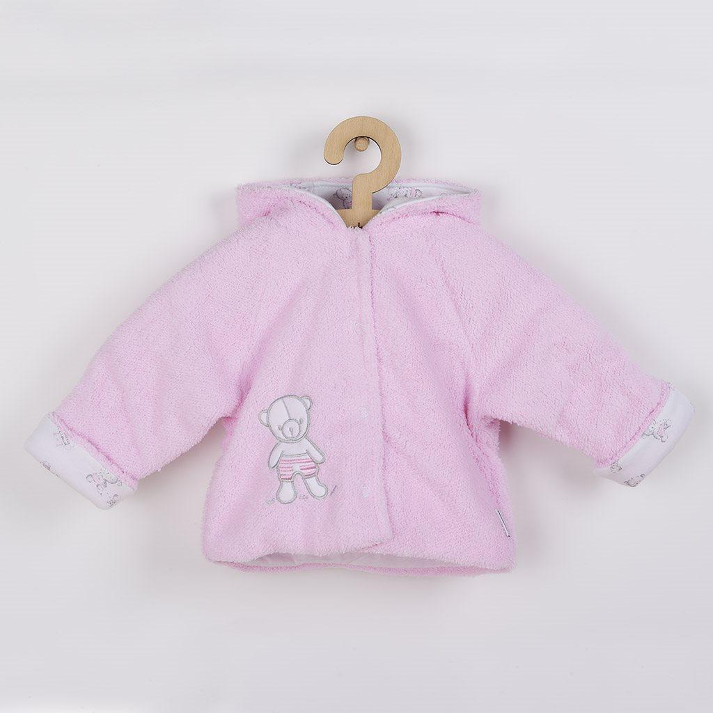 Zimní kabátek New Baby Nice Bear růžový