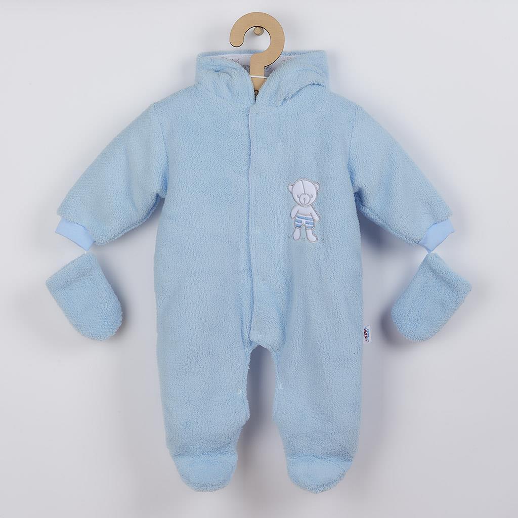 Zimní kombinézka New Baby Nice Bear modrá, Velikost: 56 (0-3m)