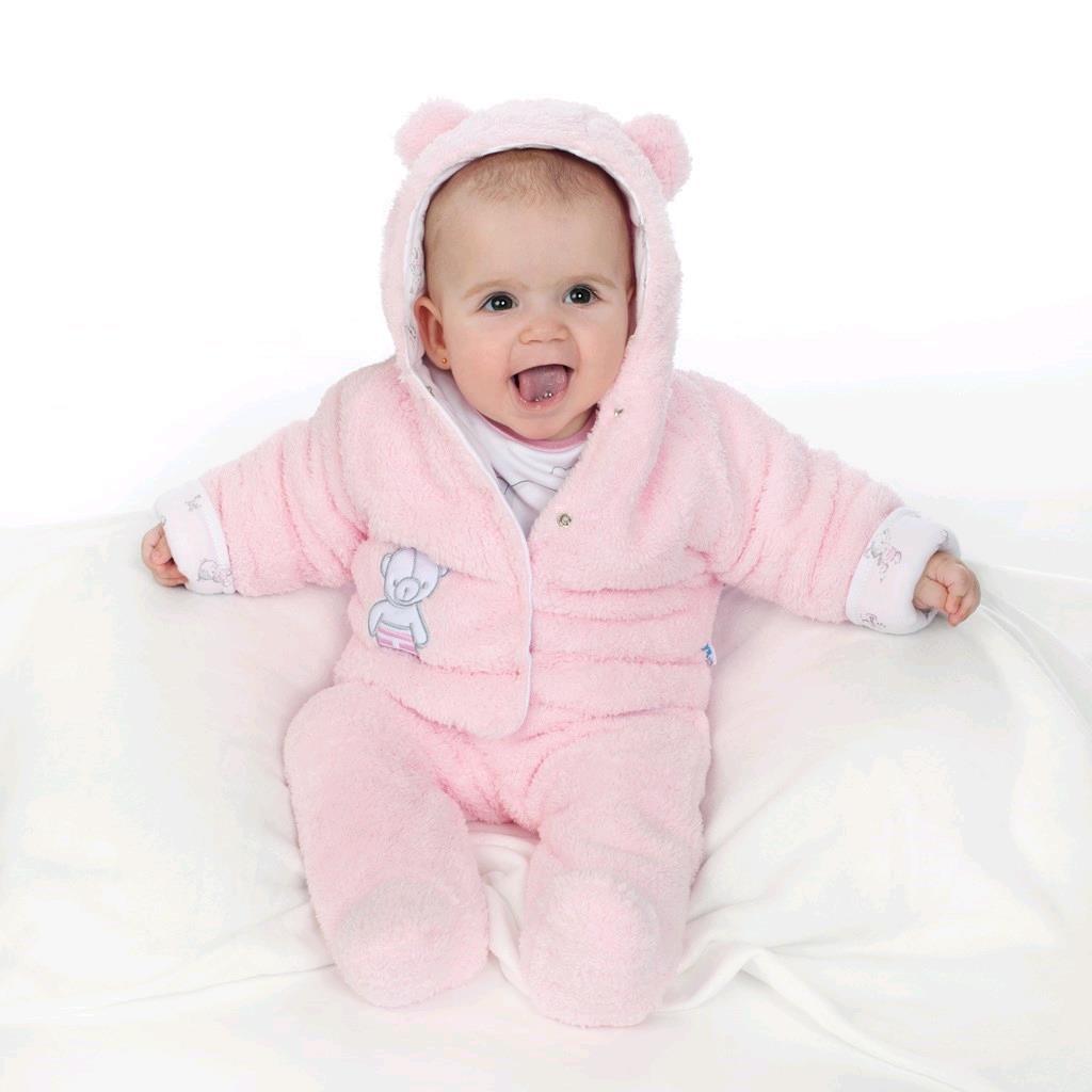 Zimní polodupačky New Baby Nice Bear růžové