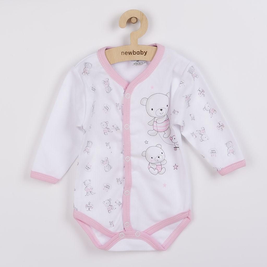 Kojenecké celorozepínací body New Baby Bears růžové