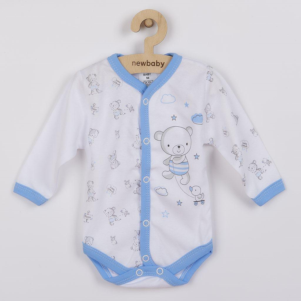 Kojenecké celorozepínací body New Baby Bears modré