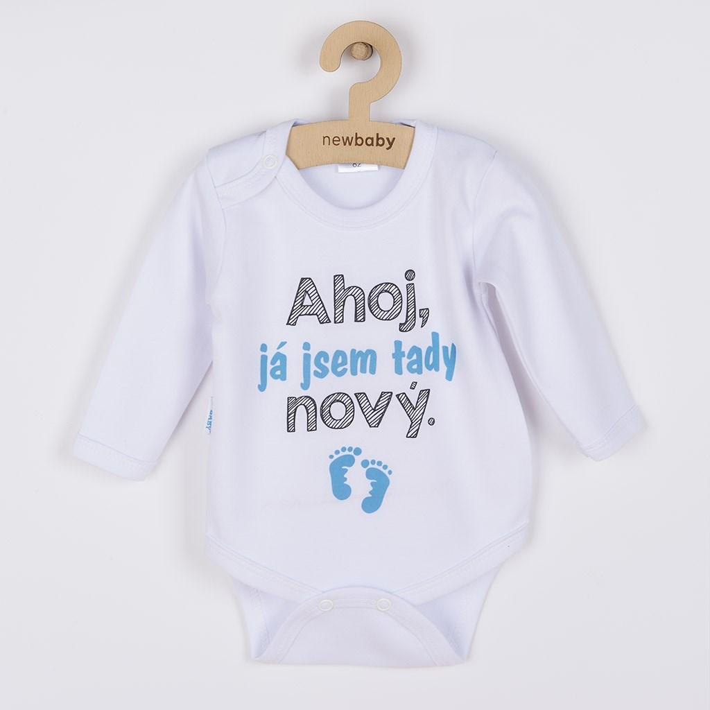 Body s potiskem New Baby Ahoj, já jsem tady nový., Velikost: 56 (0-3m)