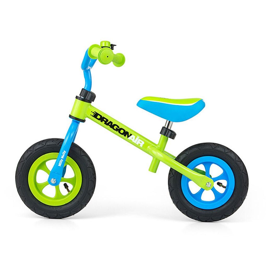 Dětské odrážedlo kolo Milly Mally Dragon Air green