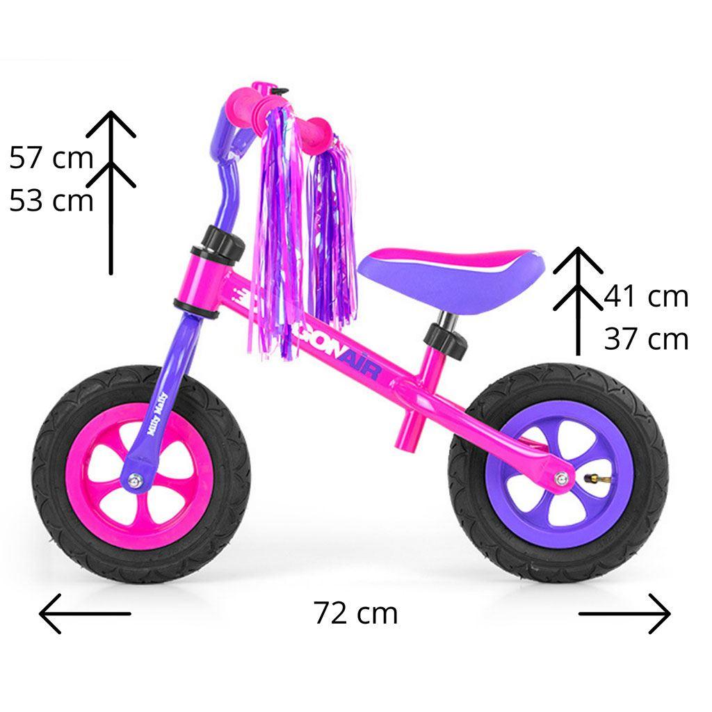 Dětské odrážedlo kolo Milly Mally Dragon Air pink
