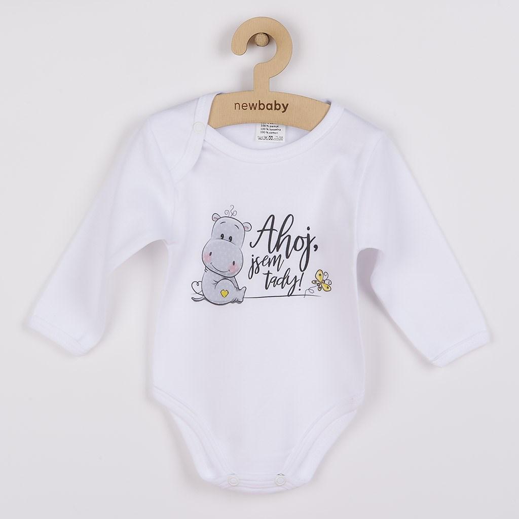 Body s potiskem New Baby Ahoj, jsem tady!, Velikost: 74 (6-9m)