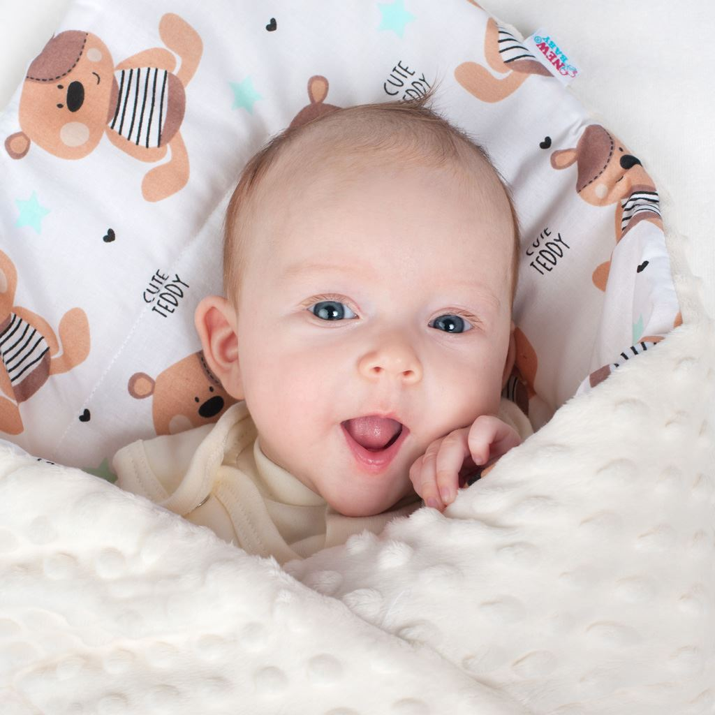 Oboustranná Zavinovačka z Minky New Baby 75x75 cm ježek mátová