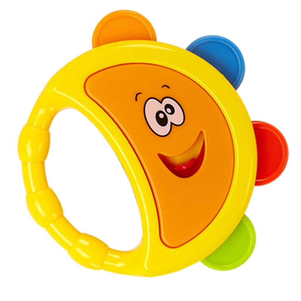 Chrastítko Baby Mix tamburína žlutá
