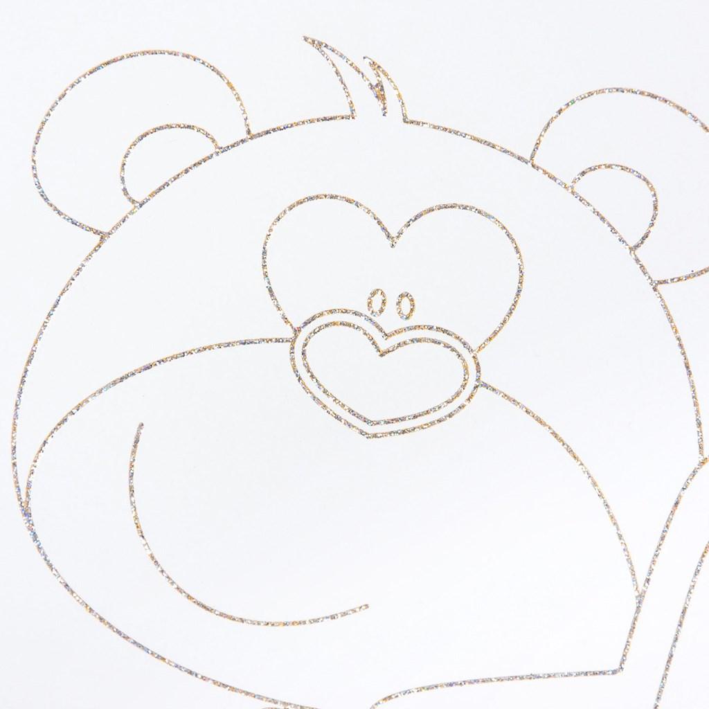 Dětská postýlka New Baby Medvídek s hvězdičkou standard dub