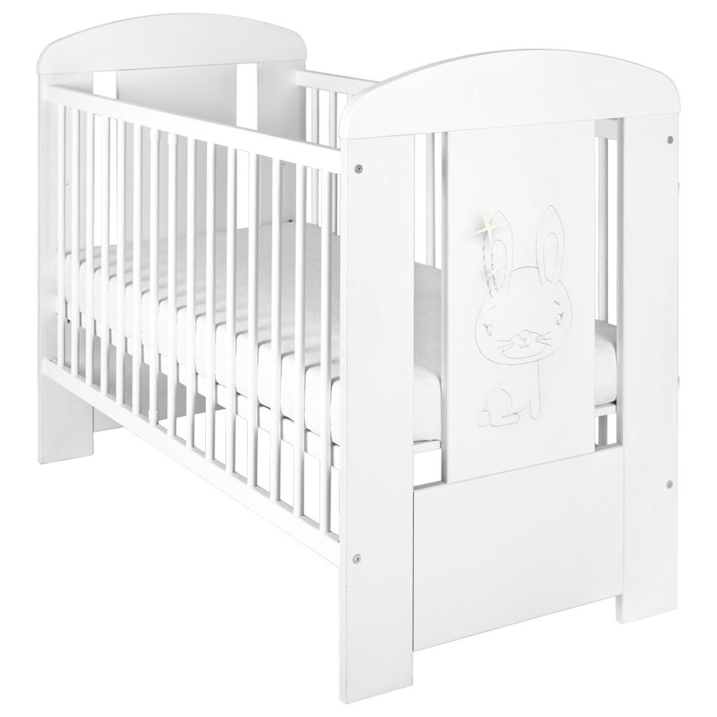 Dětská postýlka New Baby Králíček standard bílá