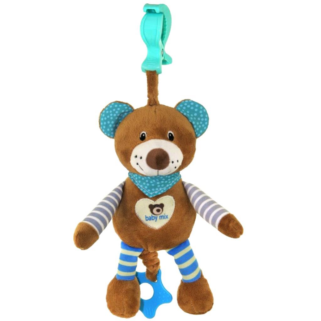 Edukační hrající plyšová hračka Baby Mix medvídek