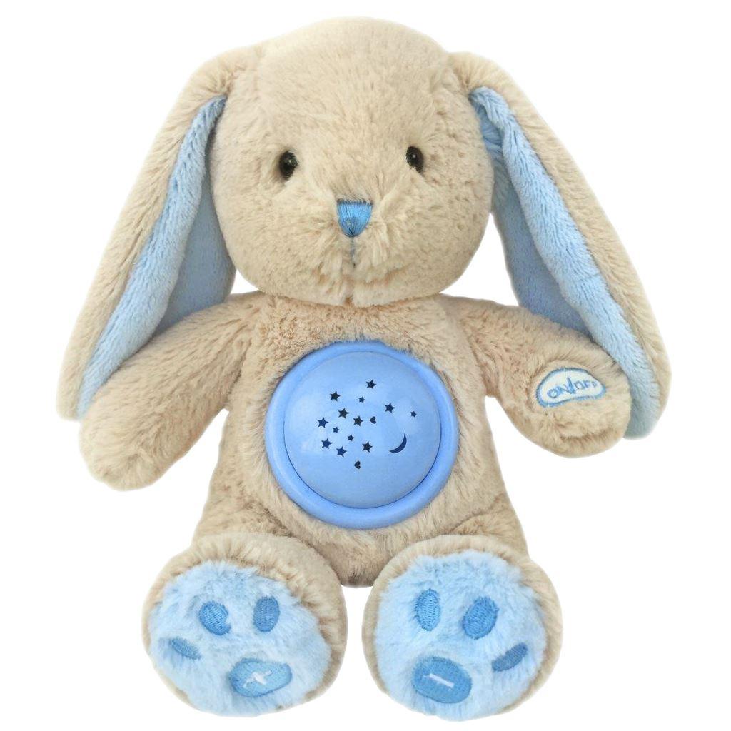 Plyšový usínáček králíček s projektorem Baby Mix modrý
