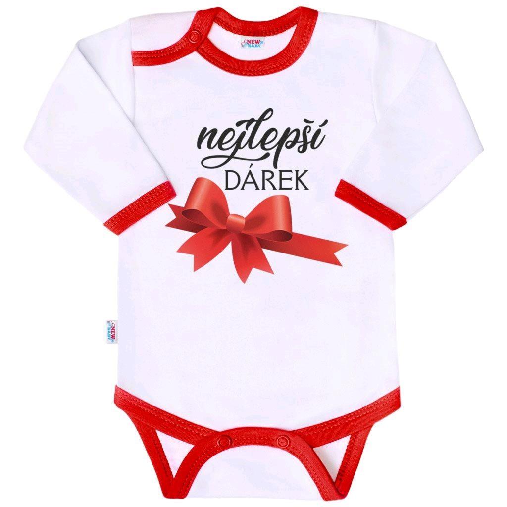 Body s potiskem New Baby nejlepší DÁREK vel. 62 (3-6m)