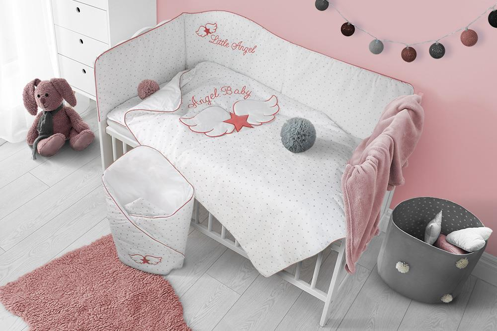 6-dílné ložní povlečení Belisima Angel Baby 100/135 růžové