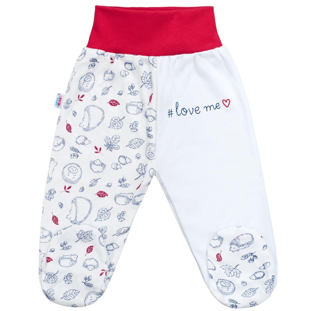 Kojenecké bavlněné polodupačky New Baby Hedgehog červené
