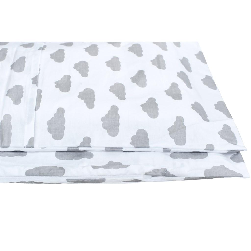 2-dílné ložní povlečení New Baby 90/120 cm obláčky šedé