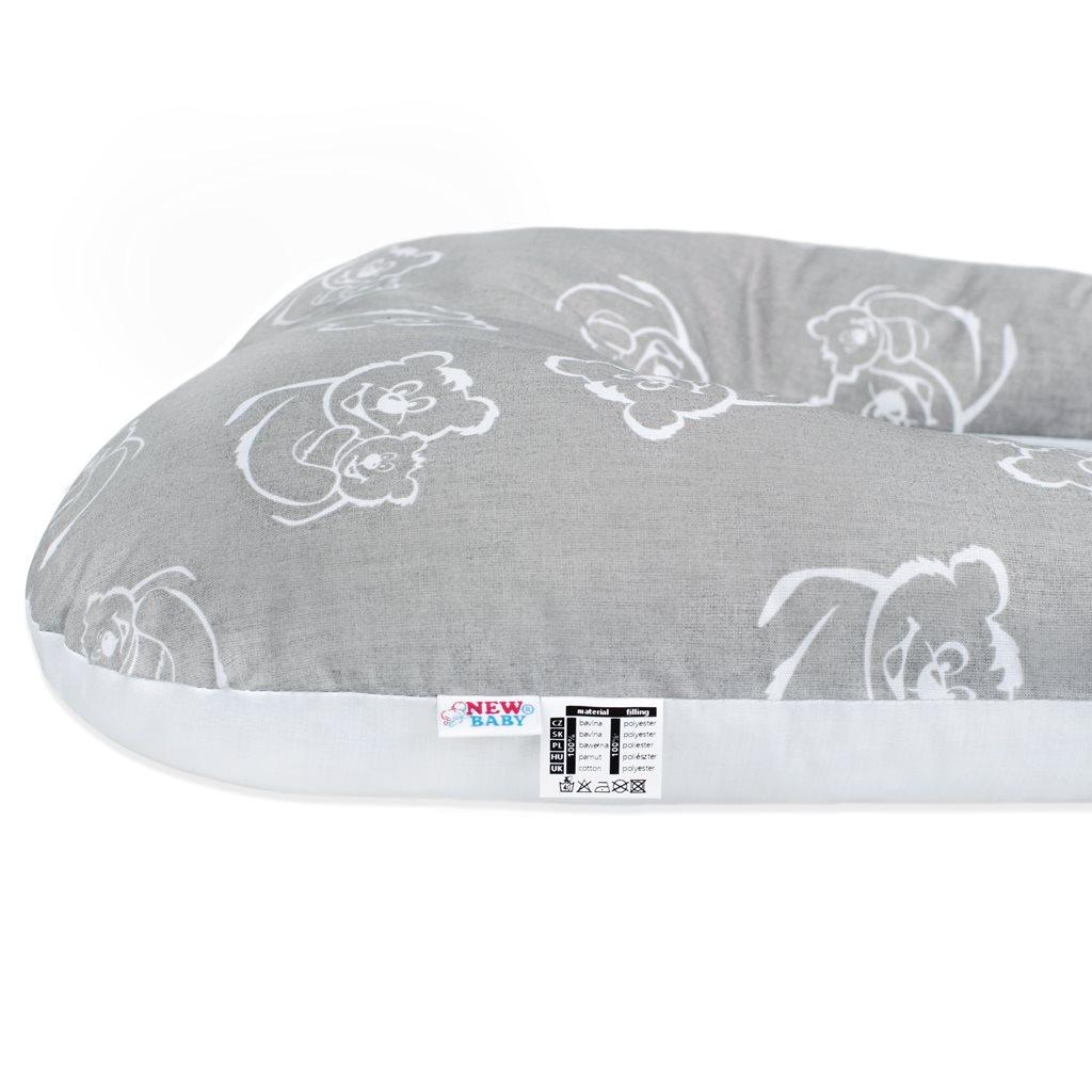 Multifunkční stabilizační polštářek New Baby Mevídci šedý