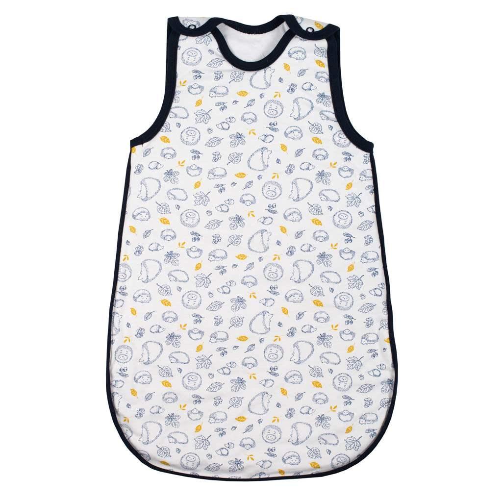 Kojenecký zateplený spací pytel New Baby Hedgehog modrý-62 (3-6m)