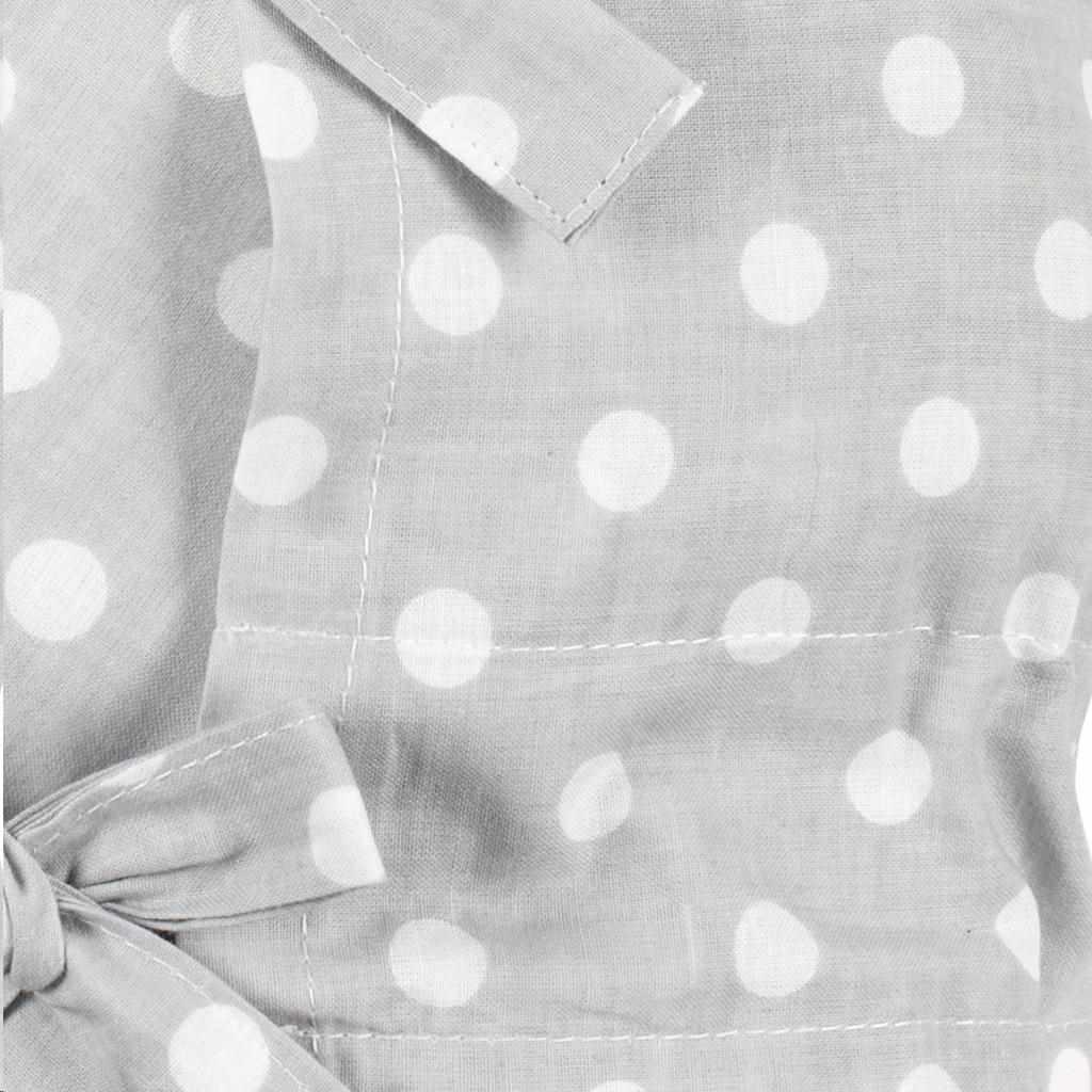 Klasická šněrovací zavinovačka New Baby šedá s puntíky