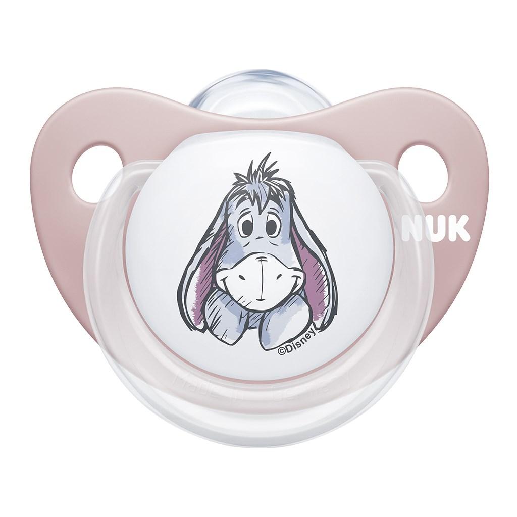 Šidítko NUK Trendline Disney Medvídek Pú 6-18m meruňkové BOX