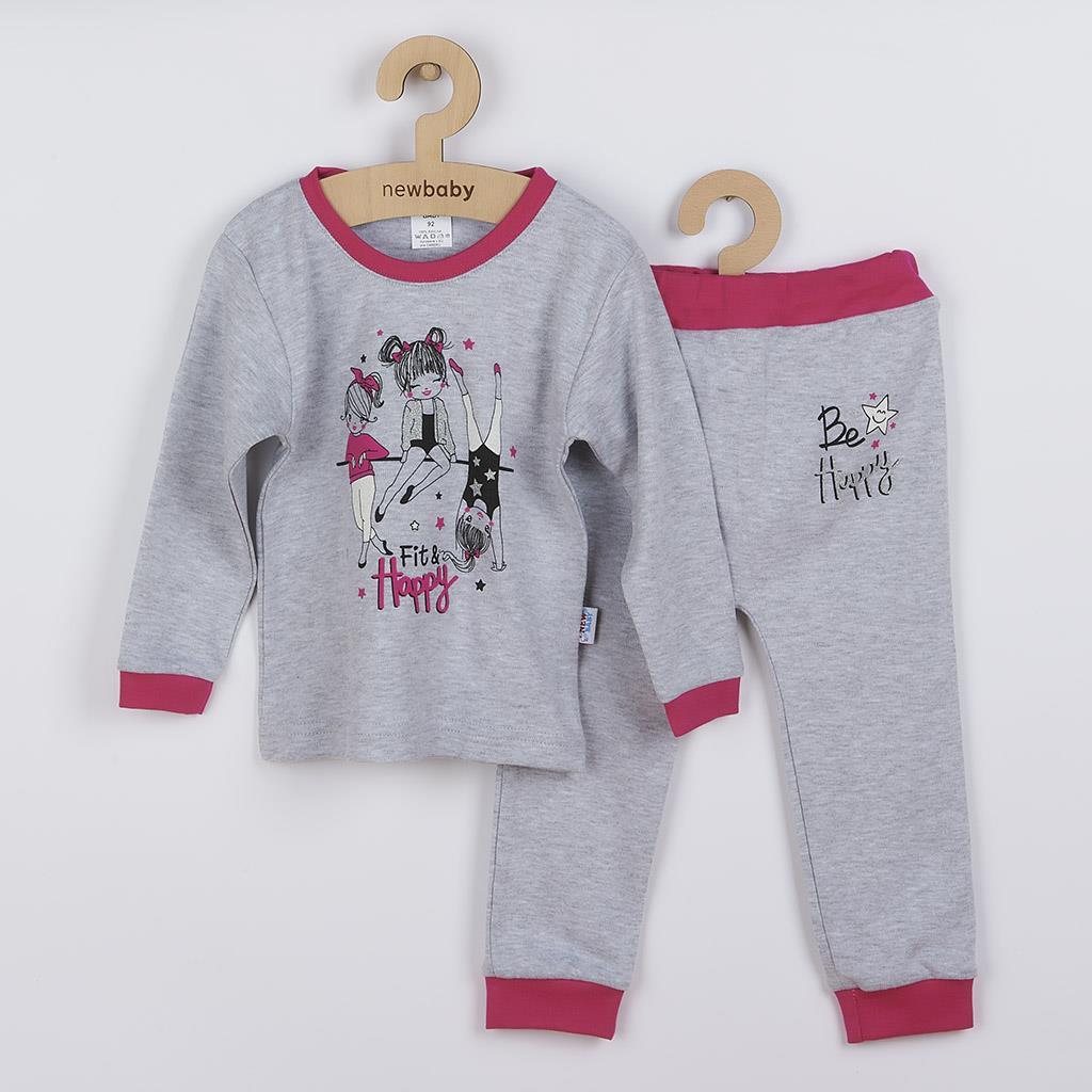 Kojenecké tepláčky a tričko Fit and Happy New Baby vel. 74 (6-9m)