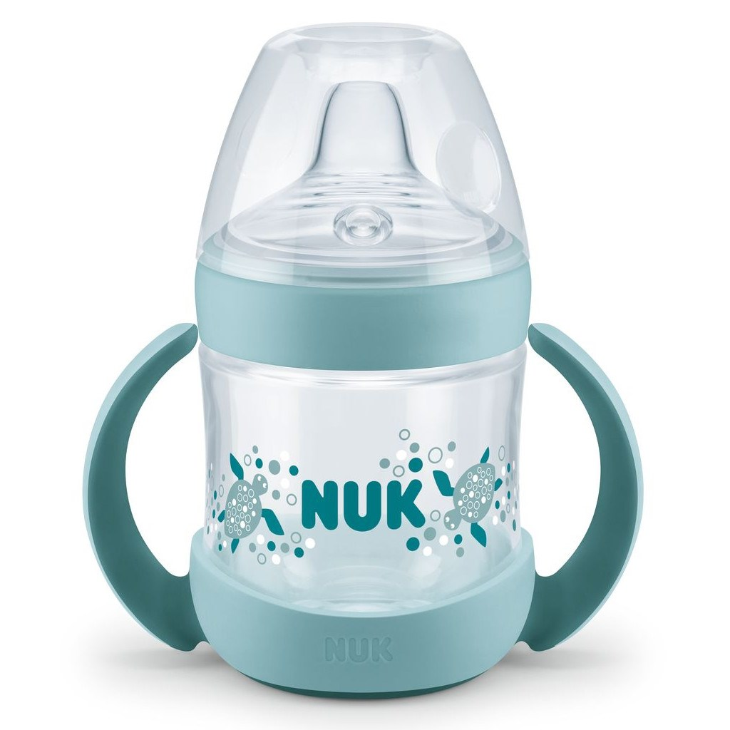 Kojenecká láhev na učení NUK Nature Sense 150 ml zelená