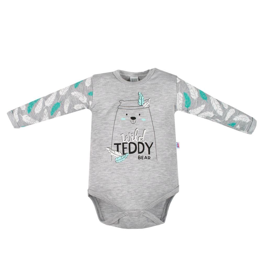 Kojenecké body s dlouhým rukávem  New Baby Wild Teddy