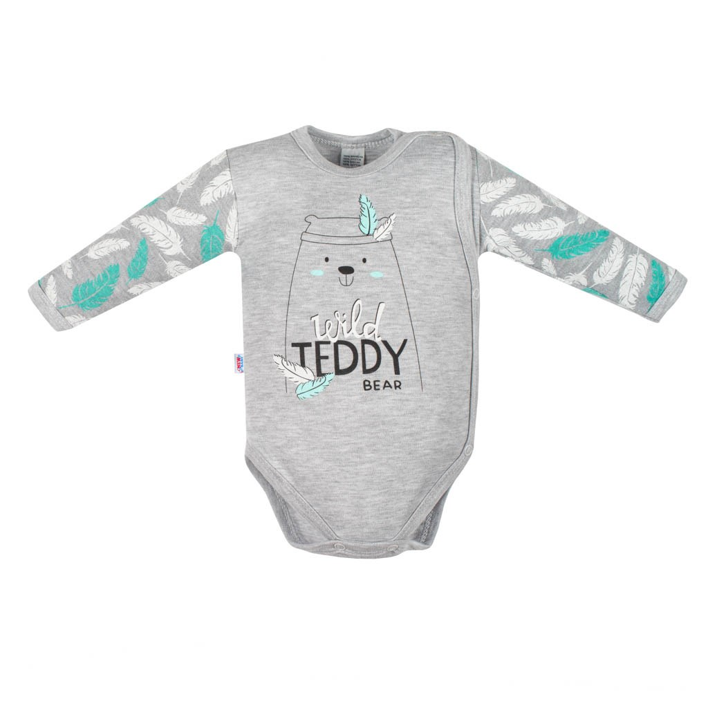 Kojenecké body s bočním zapínáním New Baby Wild Teddy, 50