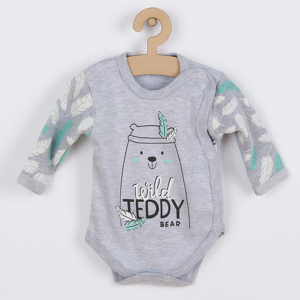 Kojenecké body s bočním zapínáním New Baby Wild Teddy, 56 (0-3m)