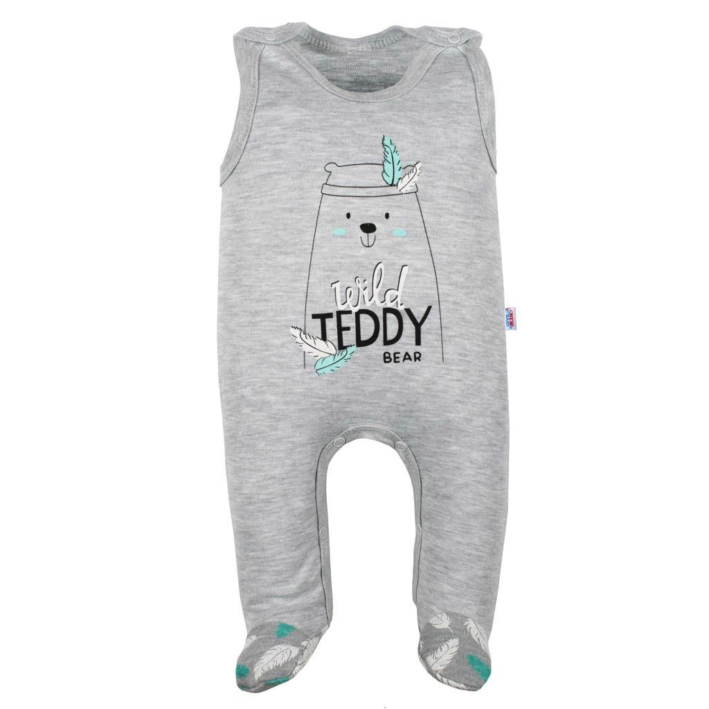 Kojenecké bavlněné dupačky New Baby Wild Teddy vel. 68 (4-6m)