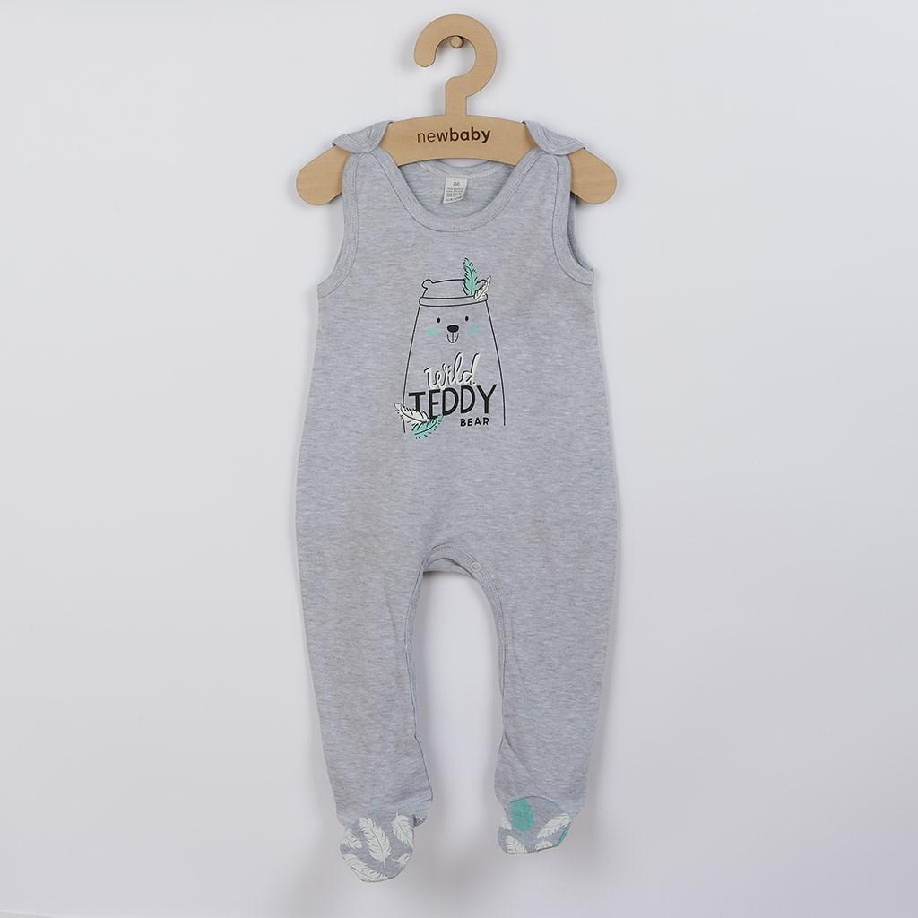 Kojenecké bavlněné dupačky New Baby Wild Teddy vel. 74 (6-9m)