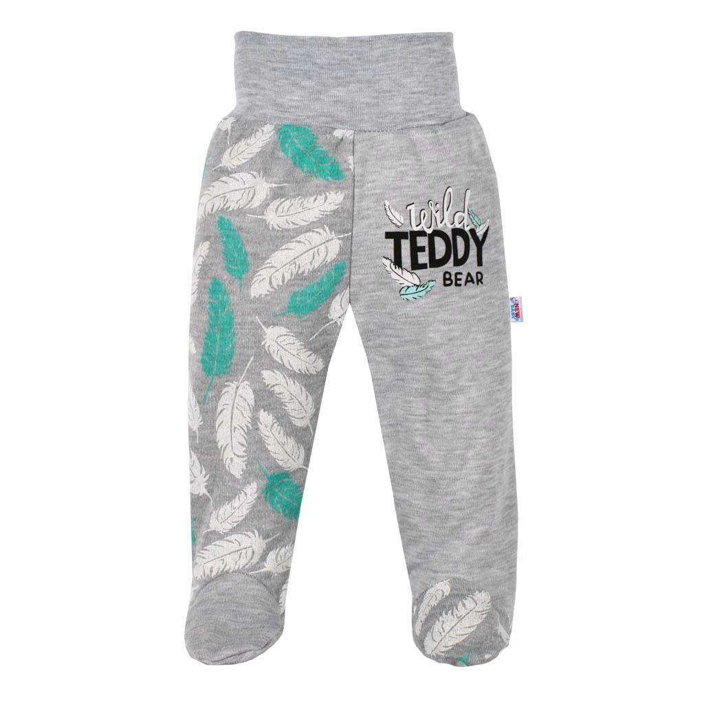 Kojenecké bavlněné polodupačky New Baby Wild Teddy vel. 62 (3-6m)