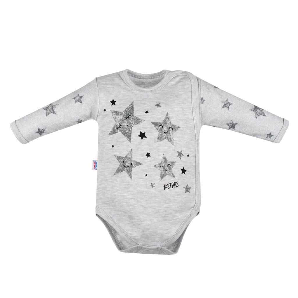 Kojenecké body s bočním zapínáním New Baby Stars, 56 (0-3m)