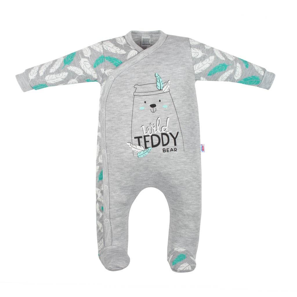 Kojenecký bavlněný overal New Baby Wild Teddy, Velikost: 56 (0-3m)