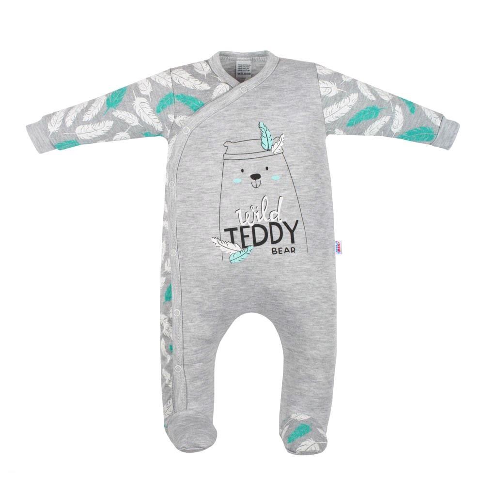 Kojenecký bavlněný overal New Baby Wild Teddy, Velikost: 80 (9-12m)