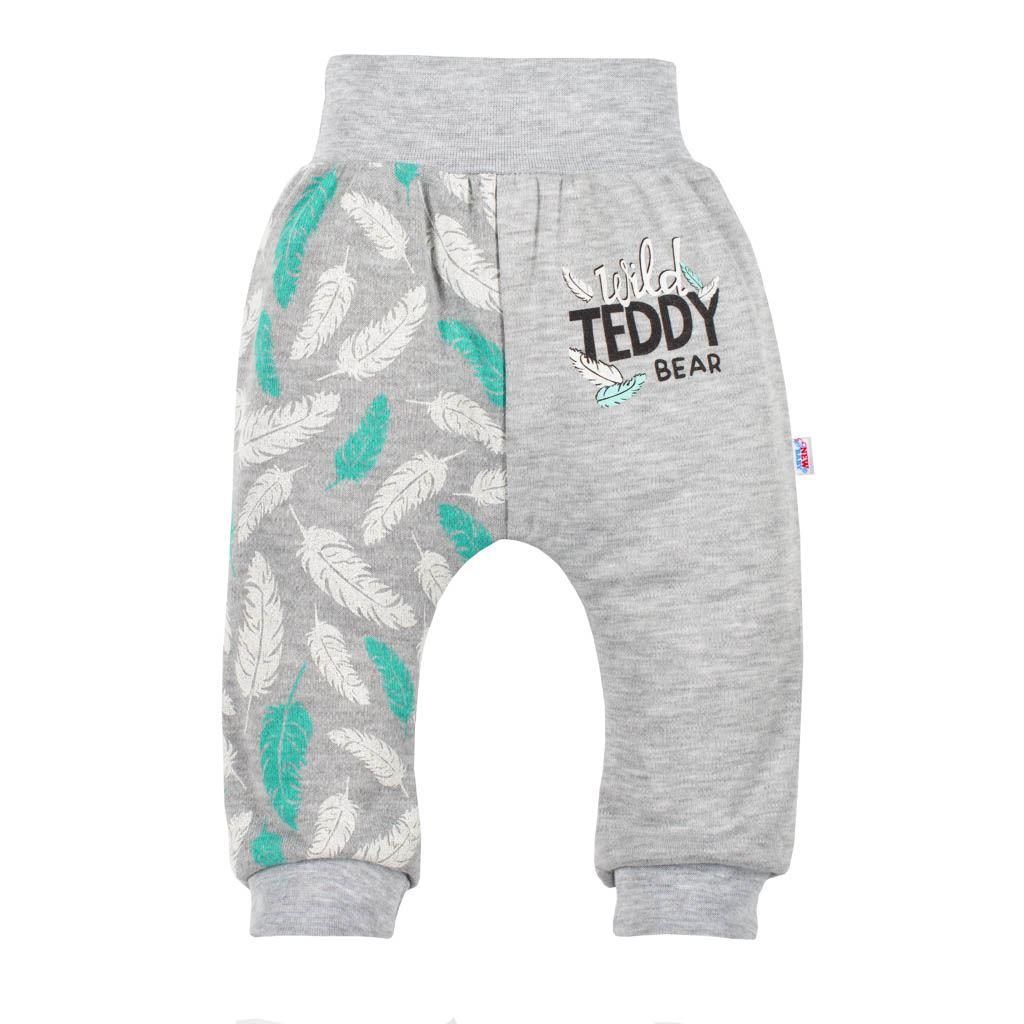 Kojenecké bavlněné tepláčky New Baby Wild Teddy vel. 56 (0-3m)