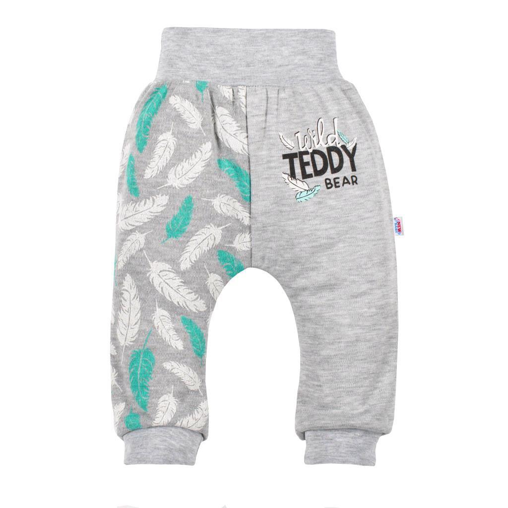 Kojenecké bavlněné tepláčky New Baby Wild Teddy, Velikost: 74 (6-9m)