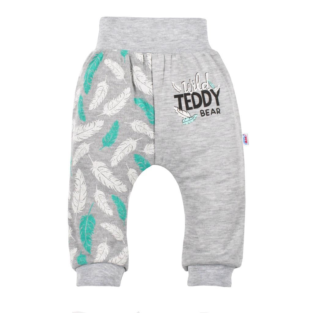 Kojenecké bavlněné tepláčky New Baby Wild Teddy, 74 (6-9m)