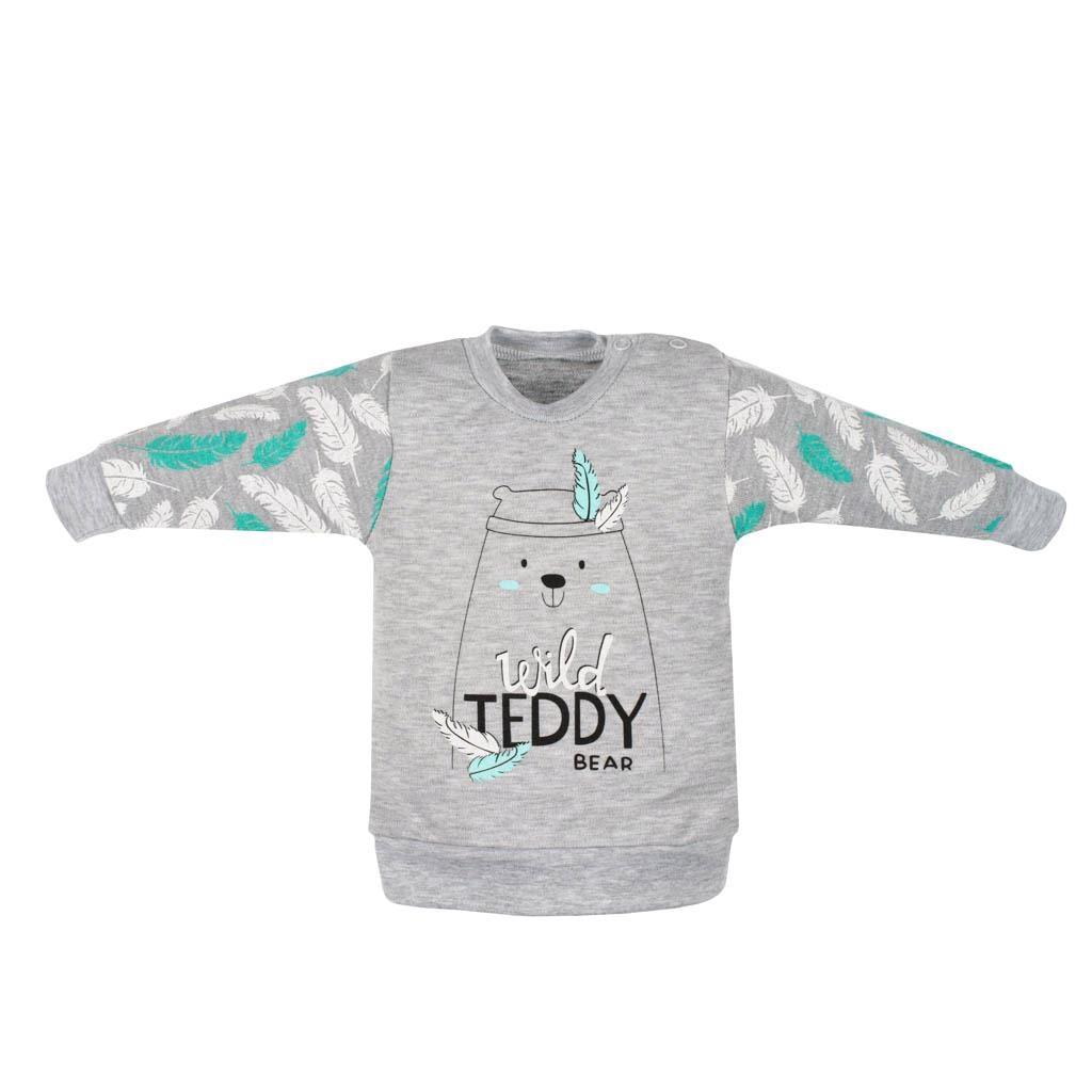 Kojenecká bavlněná mikinka New Baby Wild Teddy vel. 68 (4-6m)