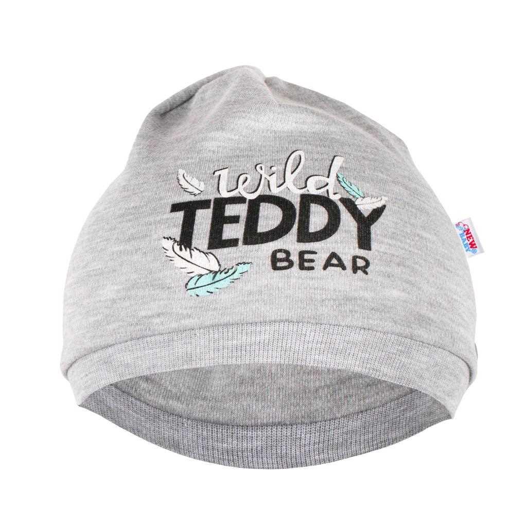 Kojenecká bavlněná čepička New Baby Wild Teddy, 80/86