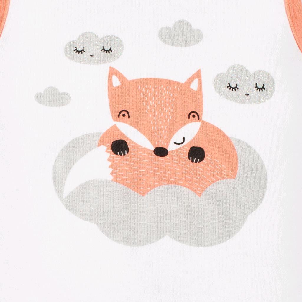 Kojenecká bavlněná košilka New Baby Liška lososová