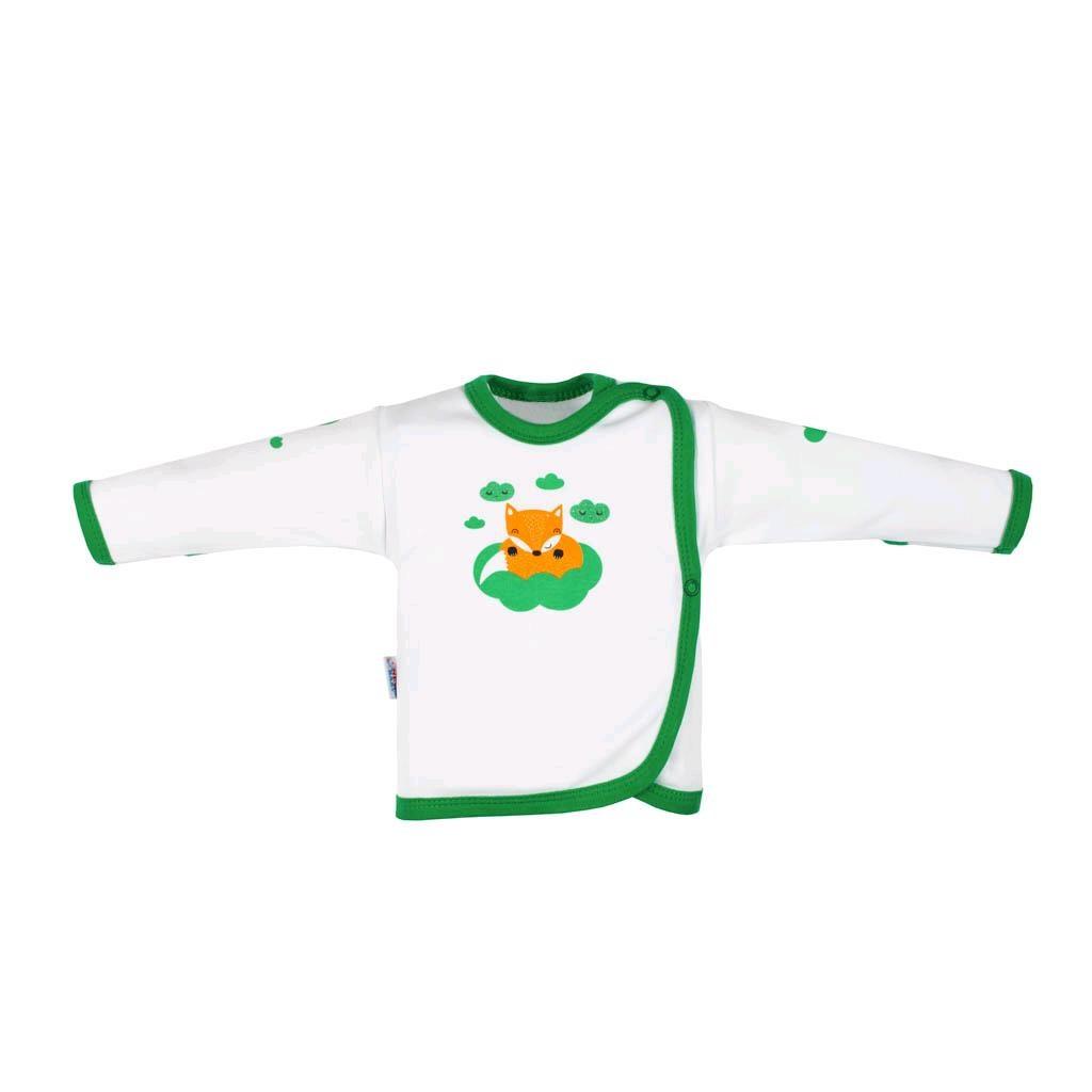 Kojenecká bavlněná košilka New Baby Liška zelená, 68 (4-6m)