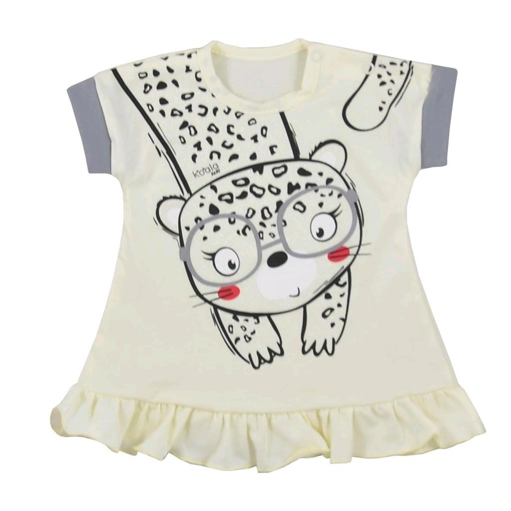 Kojenecké letní šaty Koala Sara béžové vel. 68 (4-6m)