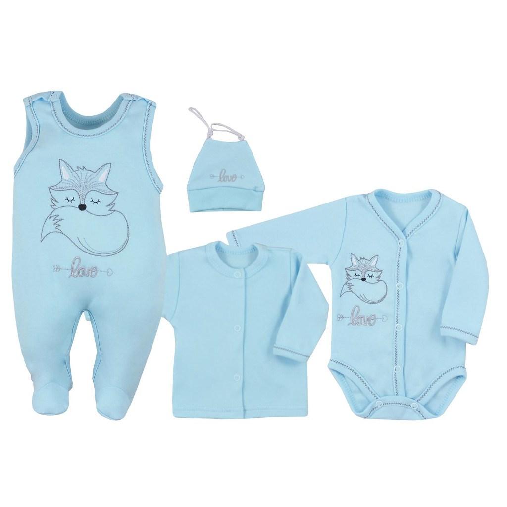 4-dílná kojenecká souprava Koala Fox Love modrá 56