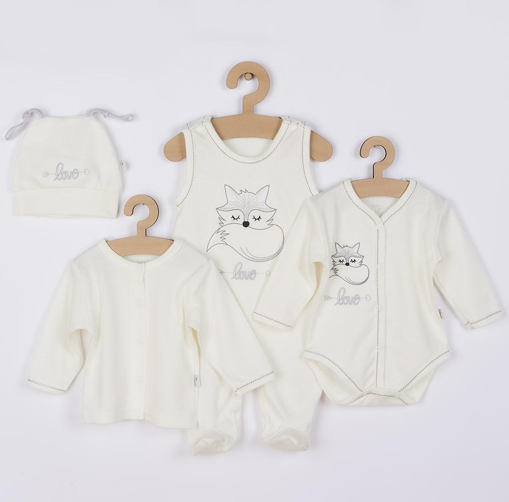 4-dílná kojenecká souprava Koala Fox Love smetanová-62 (3-6m)