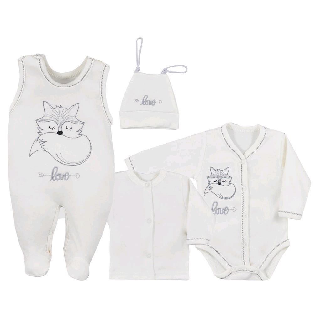 4-dílná kojenecká souprava Koala Fox Love smetanová