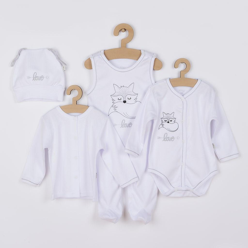 4-dílná kojenecká souprava Koala Fox Love bílá vel. 68 (4-6m)