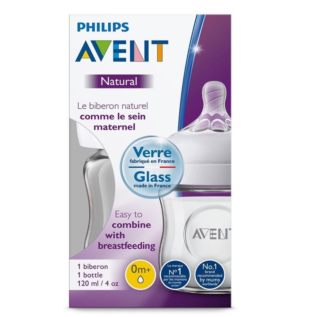 Kojenecká skleněná láhev Avent Natural 120 ml