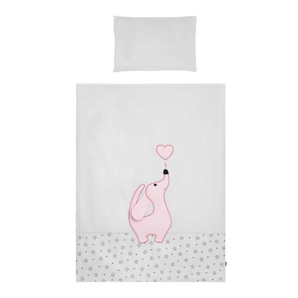 3-dílné ložní povlečení Belisima Lovely Puppy 90/120 růžové